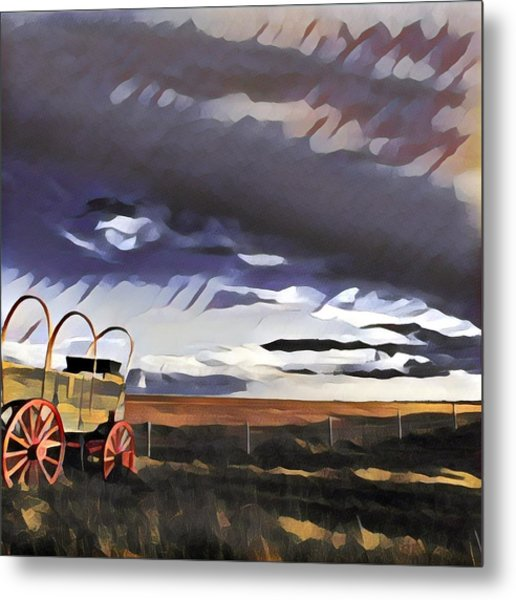 Wagon Train Metal Print