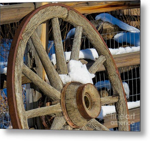 Wagon Wheel 1 Metal Print