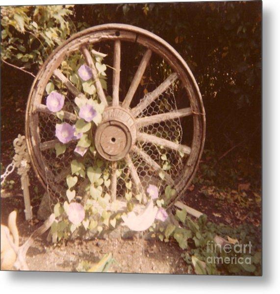 Wagon Wheel Memoir Metal Print