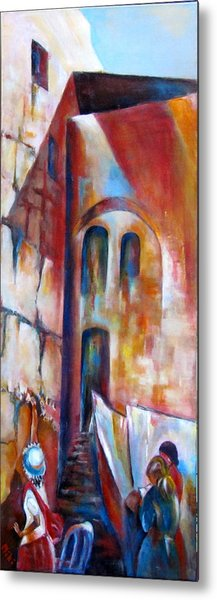 Wailing Wall Women  Section Metal Print