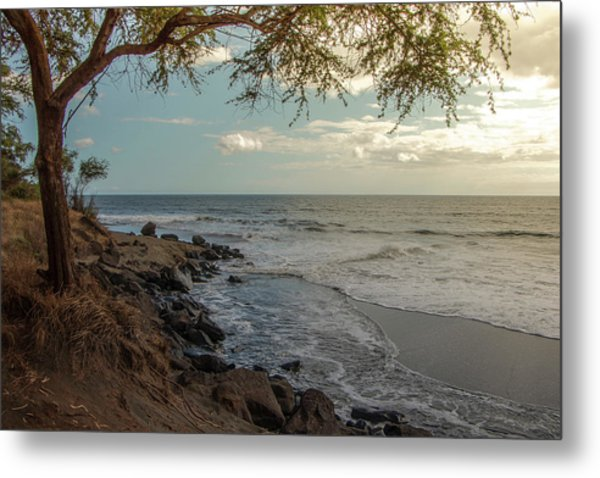 Waimea Bay Sunset Metal Print