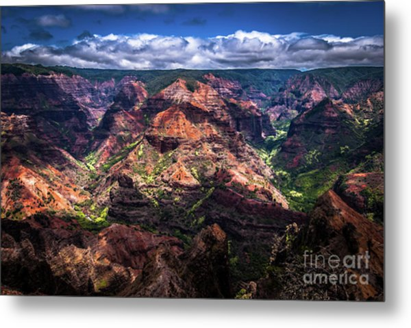 Waimea Canyon On Kauai Metal Print