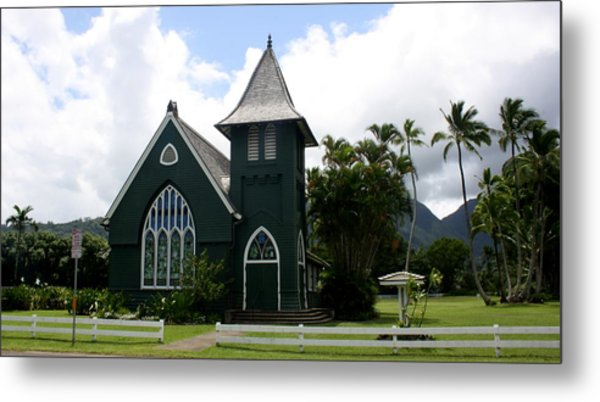 Wai'oli Hui'ia Church Metal Print by Annie Babineau