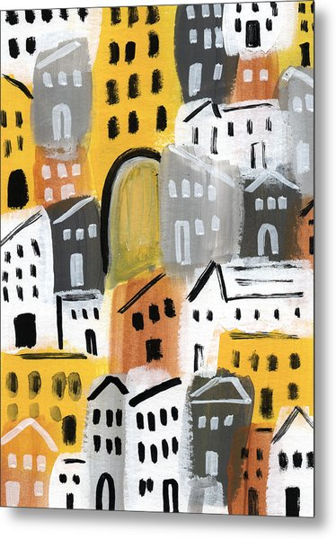 Waiting For Autumn- Expressionist Art Metal Print