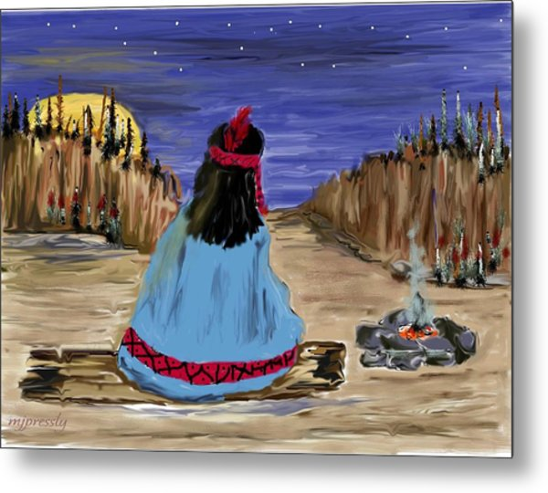 Waiting For Dinner Metal Print by June Pressly