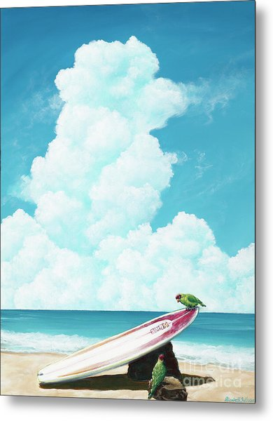 Waiting For Surf Metal Print