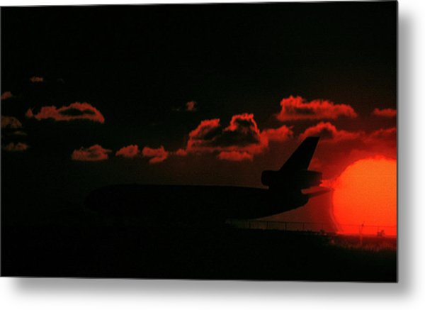 Waiting For Takeoff Metal Print