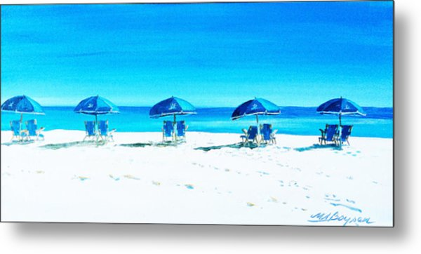 Waiting For The Beach Sitters Metal Print