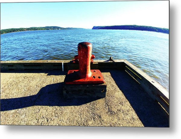 Waiting For The Ship To Come In. Metal Print
