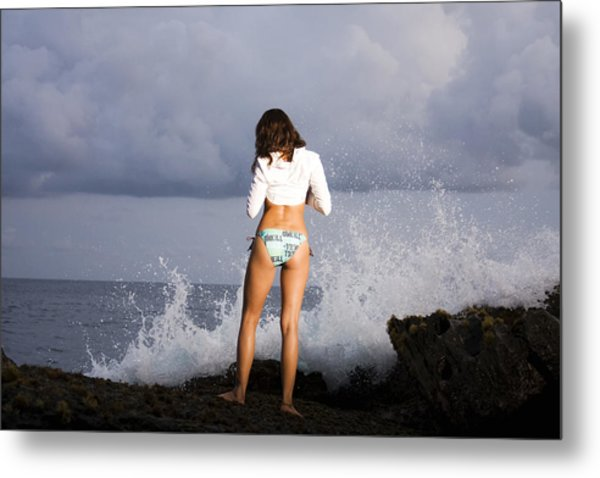 Waiting For The Sunset Metal Print by Marcos Vargas