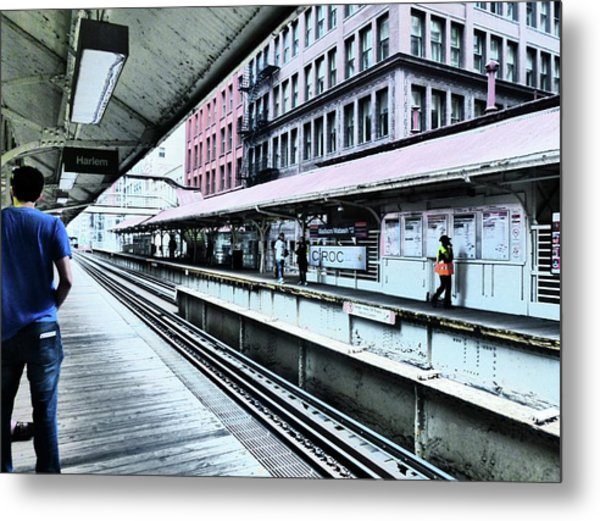 Waiting For The Train 4 Metal Print