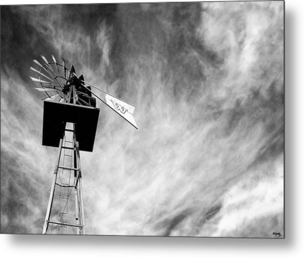 Waiting For Wind Metal Print
