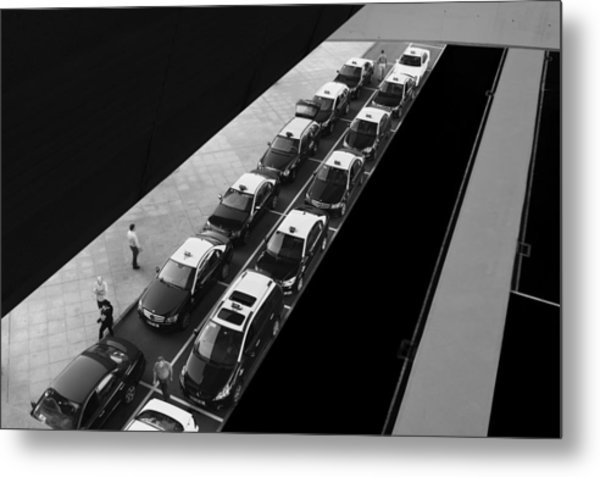 Waiting Lines Metal Print