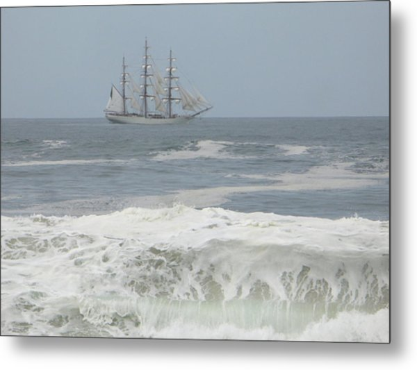 Waiting On My Ship Metal Print