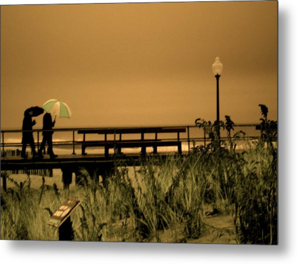 Waiting On The Rain Metal Print