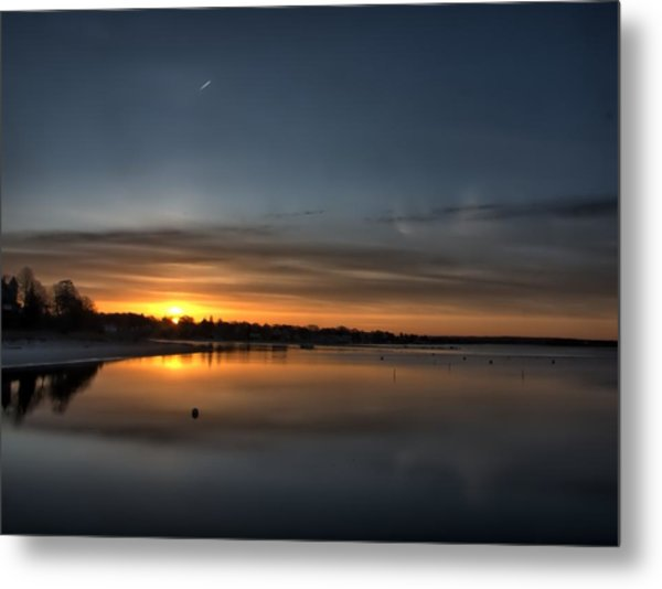 Waking To A Cold Sunrise Metal Print