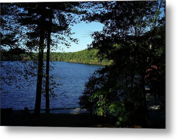 Walden Pond End Of Summer Metal Print