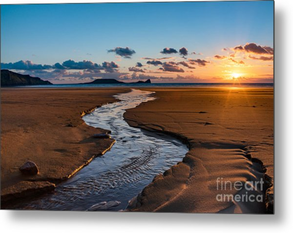 Wales Gower Coast Metal Print