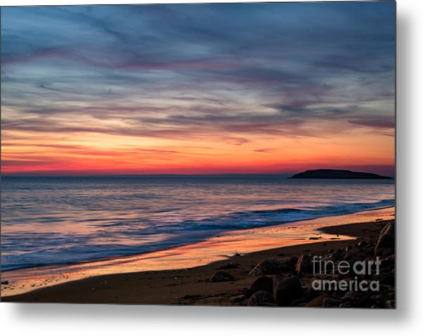 Wales Gower Coast Dusk Metal Print