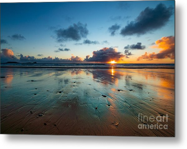 Wales Gower Coast Summer  Metal Print