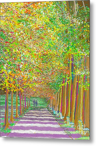 Walk In Park Cathedral Metal Print