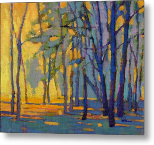 Metal Print featuring the painting Walk In The Woods 3 by Konnie Kim