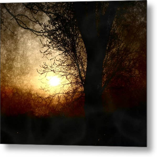 Walk Quietly Into The Night With Me. Metal Print