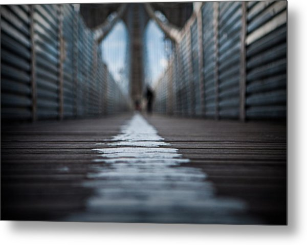 Walk The Line Metal Print