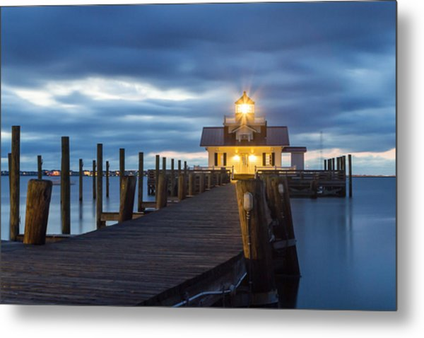 Walk To Roanoke Marshes Lighthouse Metal Print