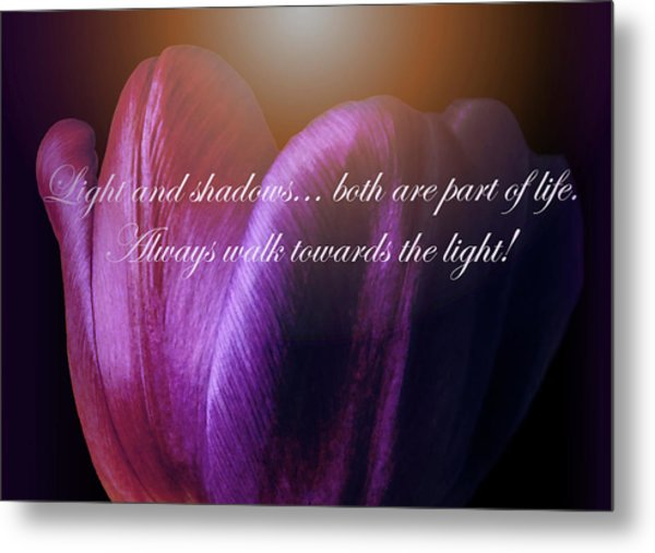 Walk Towards The Light Metal Print