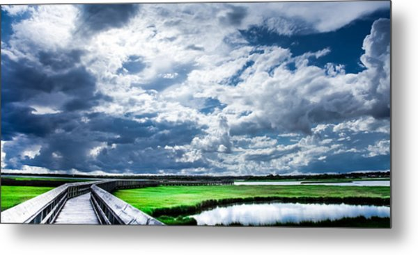 Walk With Me In The Sky Metal Print