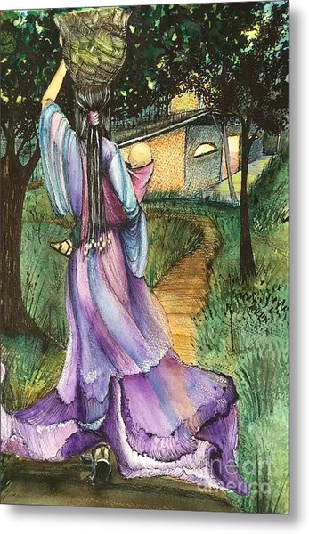 Walk With My Baby Metal Print