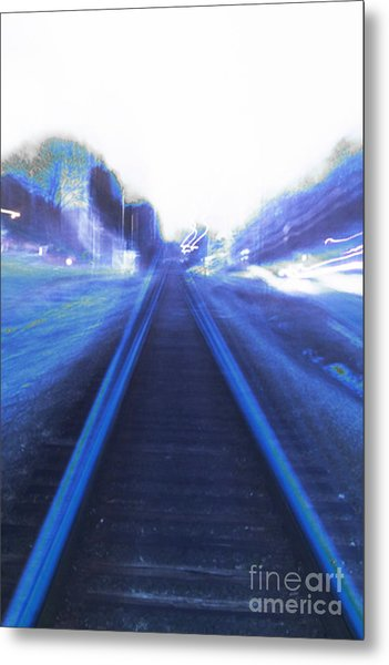 Metal Print featuring the photograph Walking Alone by Angelique Bowman