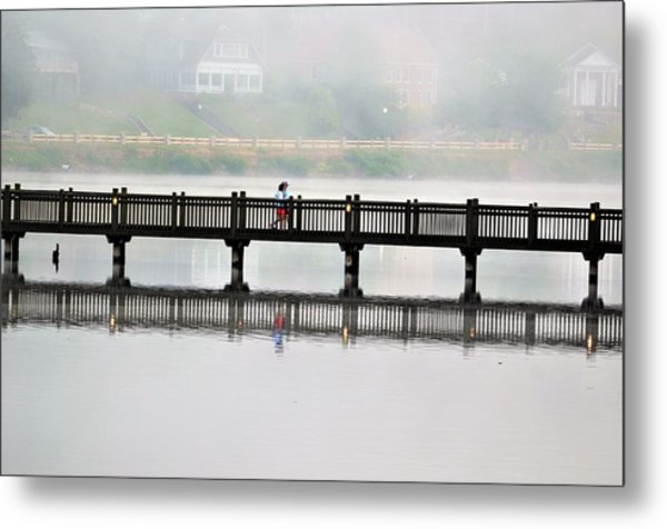 Walking Bridge Metal Print