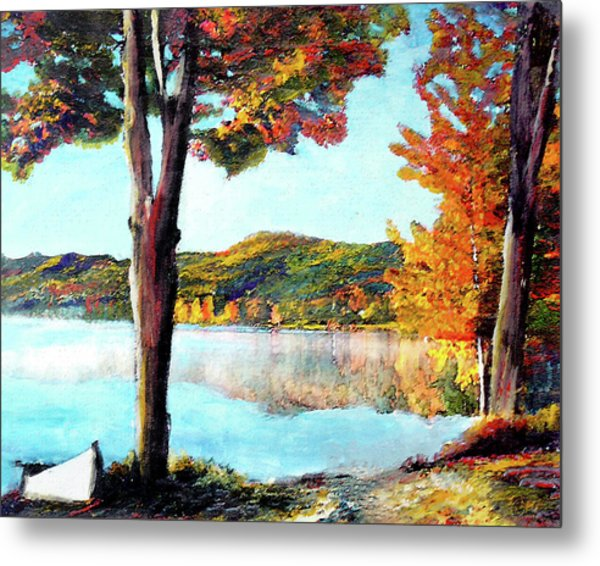 A Walk Down Lake Champlain Metal Print