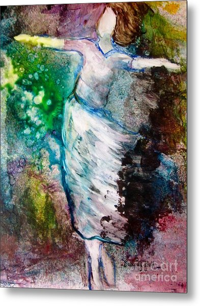 Metal Print featuring the painting Walking In The Spirit by Deborah Nell