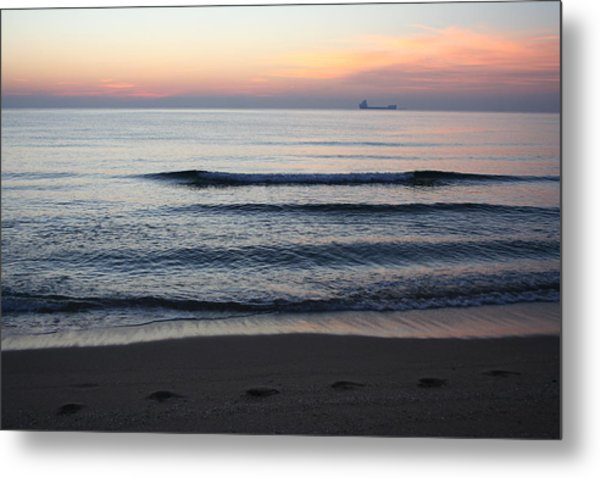 Metal Print featuring the photograph Walking On Shore by Eric Christopher Jackson