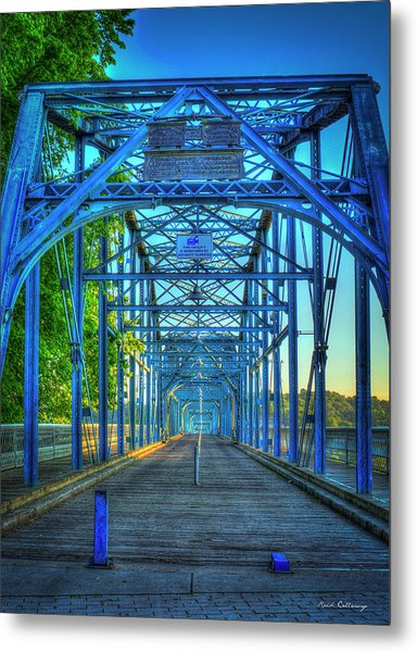 Walking Tall Walnut Street Pedestrian Bridge Art Chattanooga Tennessee Metal Print