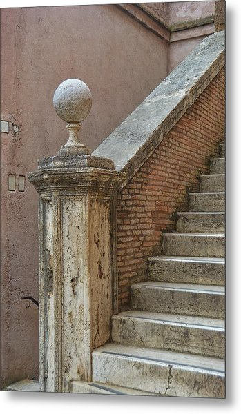 Walking The Castel Metal Print by JAMART Photography