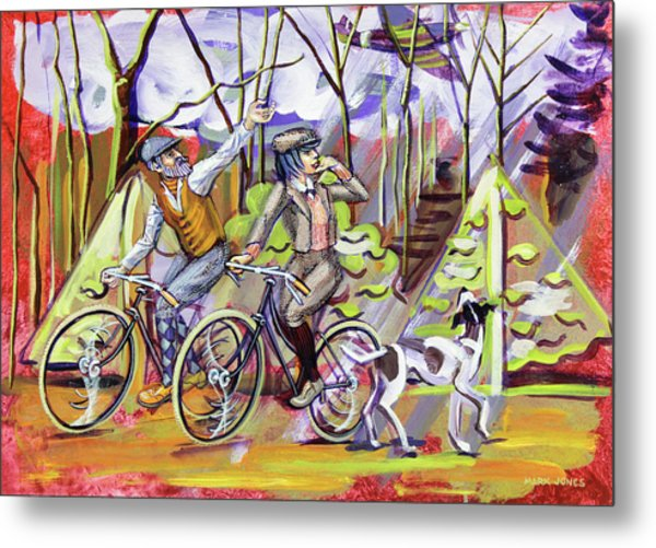 Walking The Dog 1 Metal Print