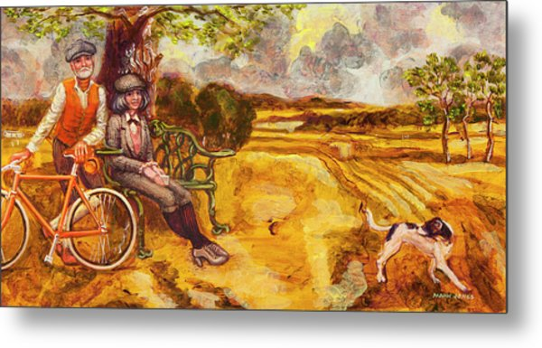 Walking The Dog After Gainsborough Metal Print