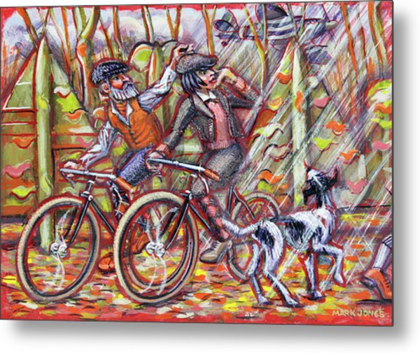 Walking The Dog 2 Metal Print