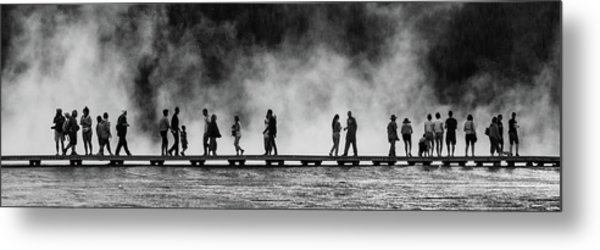 Metal Print featuring the photograph Walking The Thermals Pano by Lon Dittrick