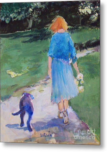 Walking With An Old Friend Metal Print