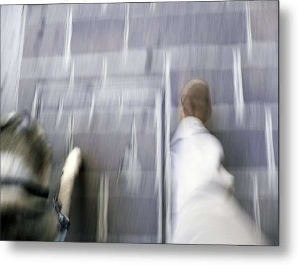 Walking With Dog Metal Print by Mikael Gambitt