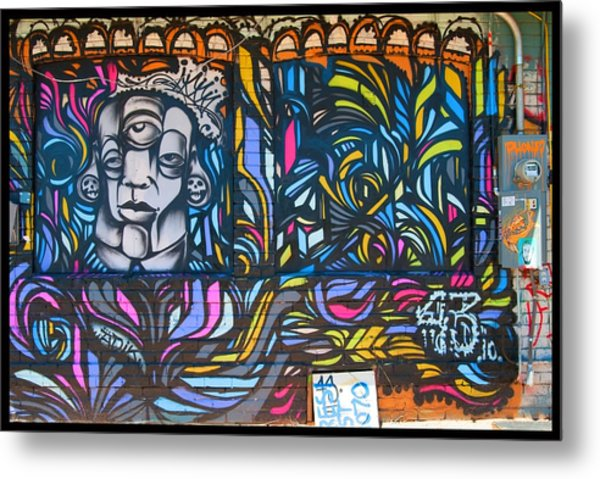 Wall And Colors Metal Print by Courtney Lively