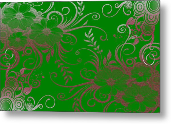 Wall Flower 2 Metal Print by Evelyn Patrick