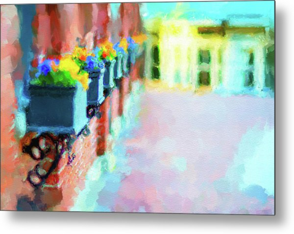 Wall Flower On The Mills In Amesbury Ma Metal Print