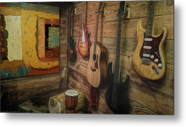 Wall Of Art And Sound Metal Print