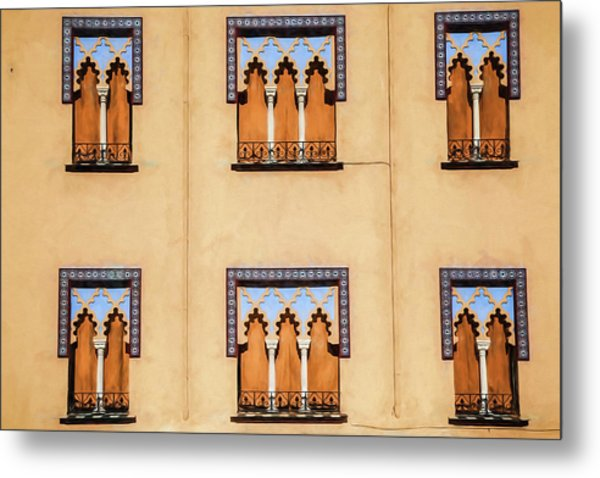 Wall Of Windows Metal Print